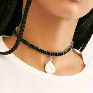 Free People Black Sloane Stone Choker